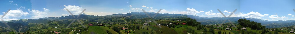 Panoramic mountain view by queensoft