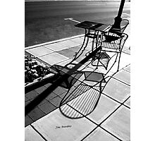 Sidewalk Shadows Photographic Print