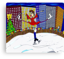Skating in the city  Canvas Print