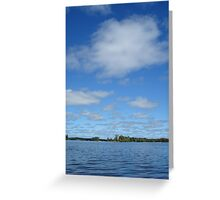 Clouds above the water Greeting Card