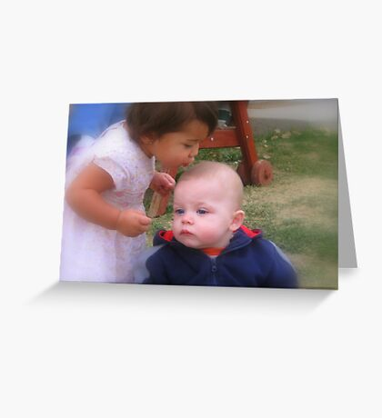 Aunt and Nephew redone Greeting Card