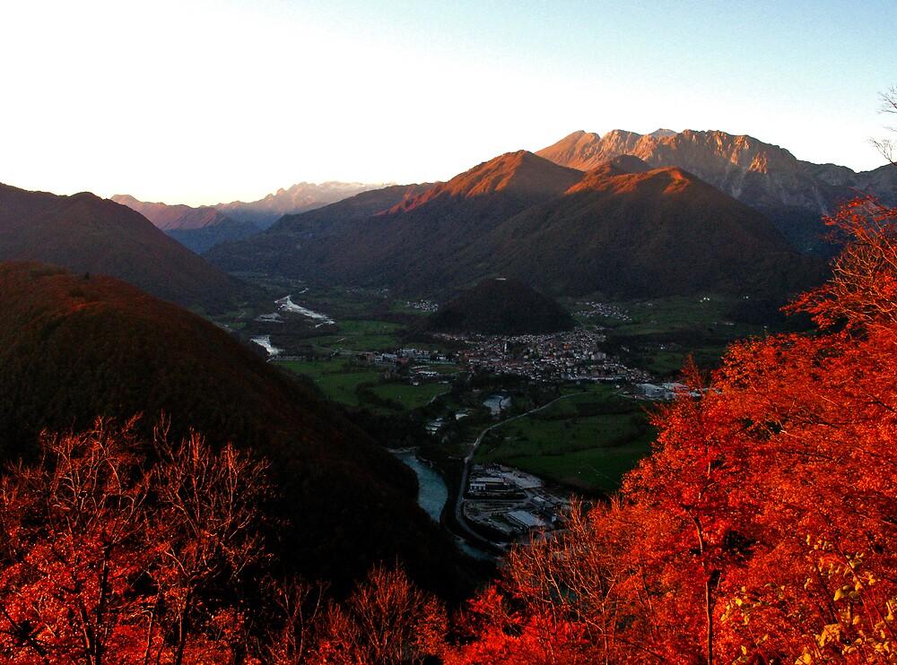 Tolmin In Autumn by Rok Cuder