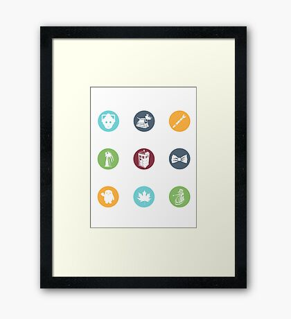 Doctor Who Items Framed Print