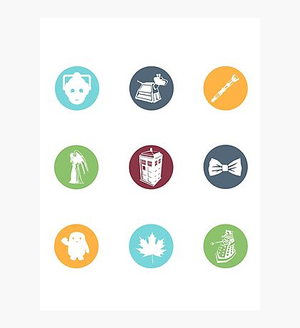 Doctor Who Items Photographic Print