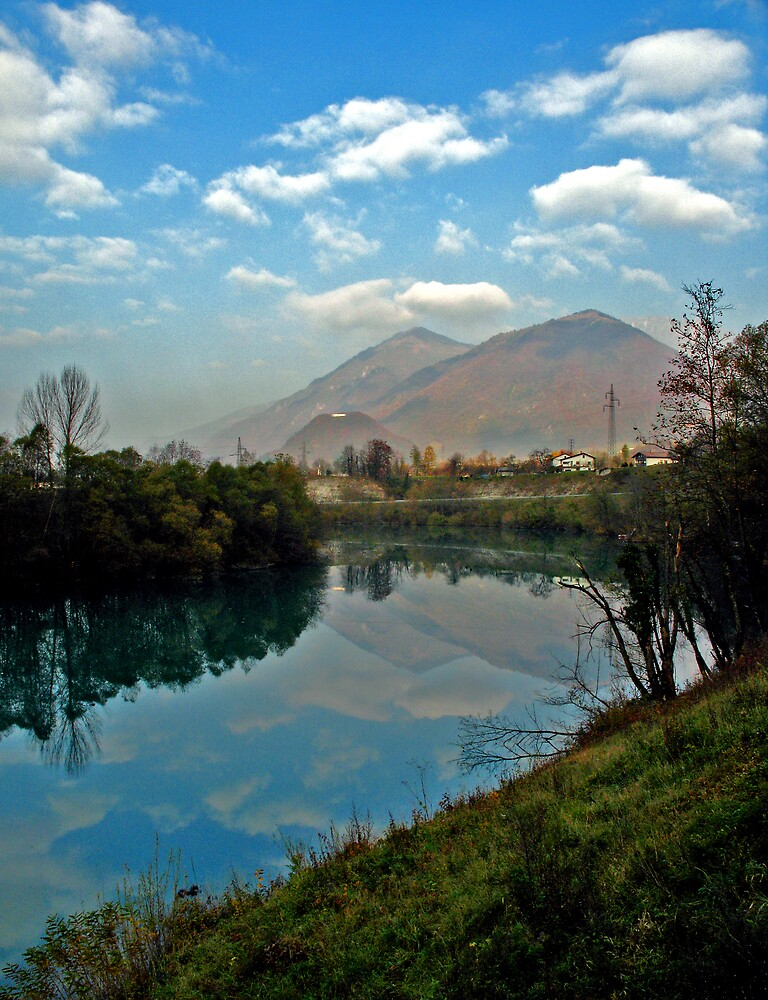 Soča near Tolmin by Rok Cuder
