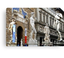 All About Italy. Piece 15 - Florence. David is Everywhere Canvas Print