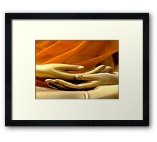 Buddha Hands Framed Print