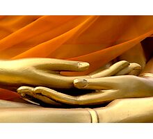 Buddha Hands Photographic Print