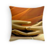 Buddha Hands Throw Pillow