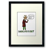 Sherlock Goat -- Elementary My Dear Watson Framed Print