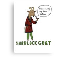 Sherlock Goat -- Elementary My Dear Watson Canvas Print