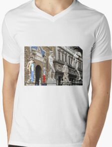 All About Italy. Piece 15 - Florence. David is Everywhere Mens V-Neck T-Shirt