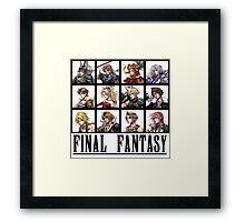 History of Final Fantasy Framed Print