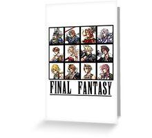 History of Final Fantasy Greeting Card