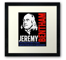 JEREMY BENTHAM Framed Print