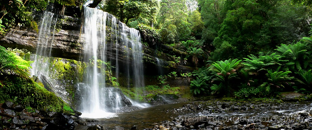 Russell Falls in Tasmania by STEPHEN GEORGIOU PHOTOGRAPHY