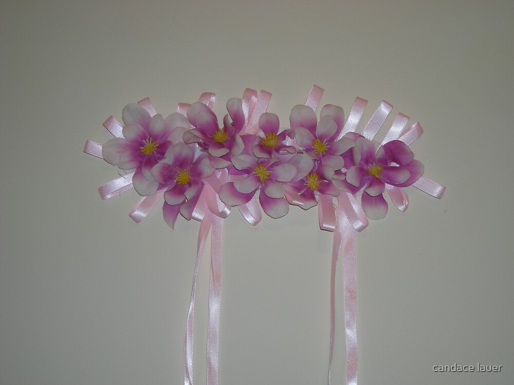 kaylee - wedding headpiece - a work of fine art - full view by candace lauer