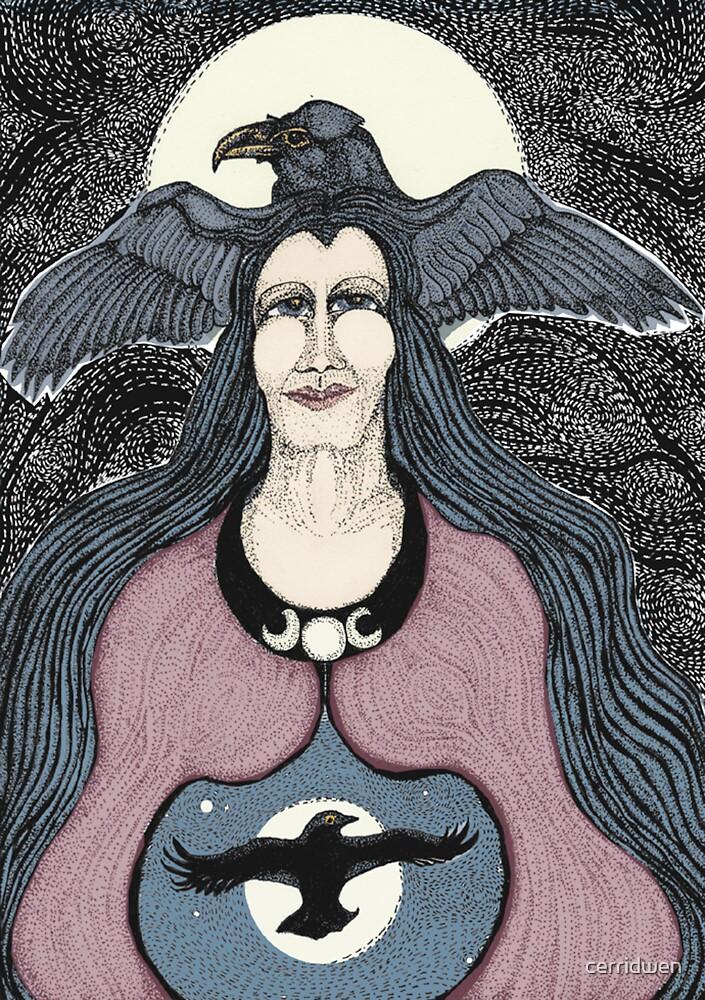Raven Woman by cerridwen