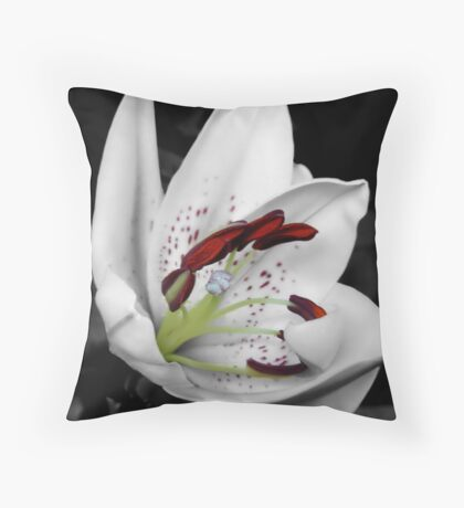Oriental Lily Throw Pillow