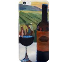 Napa Valley Wine Bottle with Red Wine iPhone Case/Skin