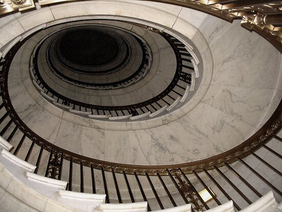 The Oval Staircase by Nikki Trexel