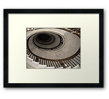 The Oval Staircase Framed Print