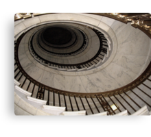 The Oval Staircase Canvas Print