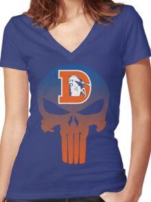 Denver Punishers - Retro Women's Fitted V-Neck T-Shirt