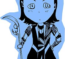 Chibi Loki Laufeyson (blue version) by Saphiria333