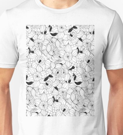 Daffodils spring floral pattern  Unisex T-Shirt