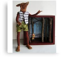 Peter and the Wolf - art doll sculpture mixed media art Canvas Print