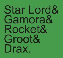 Guardians of the Galaxy Jetset, Black Kids Clothes