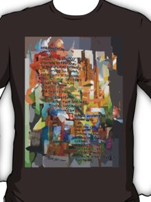 Collage Construct No. 2 with Poem T-Shirt