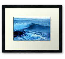 Blue Waves of Glory Framed Print