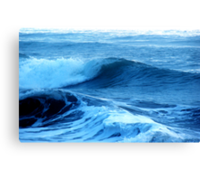 Blue Waves of Glory Canvas Print