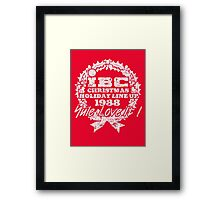 IBC Christmas Line Up- RED Framed Print