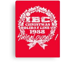 IBC Christmas Line Up- RED Canvas Print