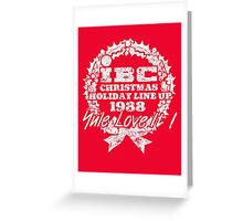 IBC Christmas Line Up- RED Greeting Card