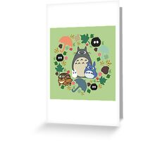 Green Totoro Wreath - My Neighbor Totoro Greeting Card