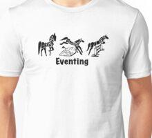 Eventing Word Art Black Unisex T-Shirt