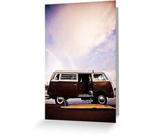 surfboard + VW Bus Greeting Card