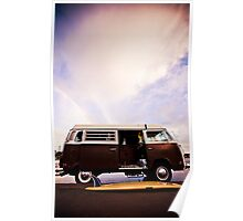 surfboard + VW Bus Poster