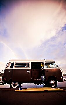 surfboard + VW Bus by Andie  Smith