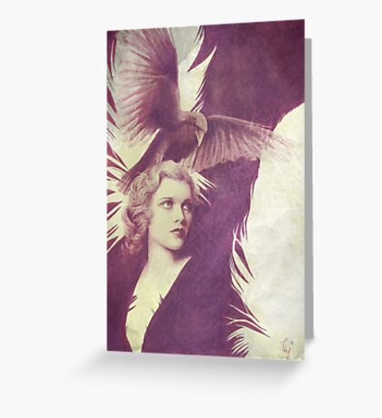 The Lady of Ravens surreal artwork Greeting Card
