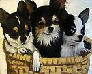 Chihuahua Lovin - dog portrait animal art by LindaAppleArt