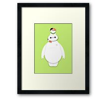 Baymax and the Hairy Baby Framed Print