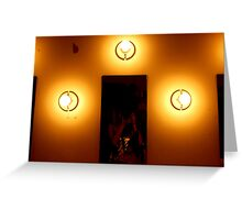 3 Bulbs and Mirror Greeting Card