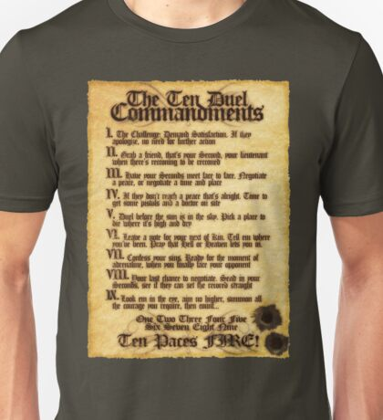 The 10 Duel Commandments Unisex T-Shirt