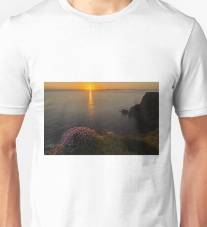 cliffs of moher sunset county clare ireland Unisex T-Shirt