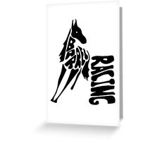 Barrel Racing Word Art Greeting Card